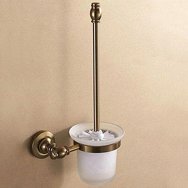 SUNNY KEY-Brosses WC et supports@Porte Brosse de Toilette Cuivre Antique Fixation Murale 28*23*18cm Aluminium Contemporain