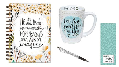 Great Plans Kaffeebecher, Do ImMeasurably More Journal, schwarze Weinrebe, Stift mit Lesezeichen