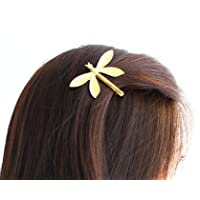 Cuhair(tm) 1pc Wedding Princess Gold Metal Dragonfly Hair Clip Hair Pin Accessories for Women Girl Baby