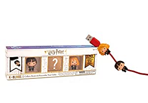 Wow! Stuff Collection- Harry Potter K-Bling-3 Pack Protector de Cable Coleccionable, Multicolor (WW-KB-1108)