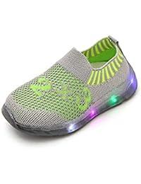 the latest 1fd03 bbaab ELECTRI Bébé Sneakers LED Chaussures Baskets Motif Rayé étoile Bottes  Strass Antidérapant Enfants Lumière Lumineux Chaussures