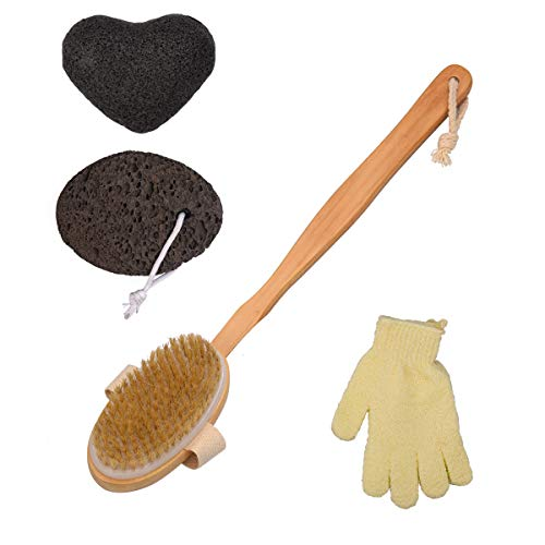 Juego cepillo espalda - Incluye cepillo baño mango