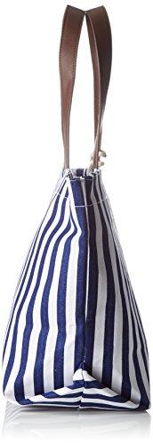 Le Temps des Cerises - Navy _ Ltc3w46, Cabas Donna Bleu (Rayures Bleu Blanc)
