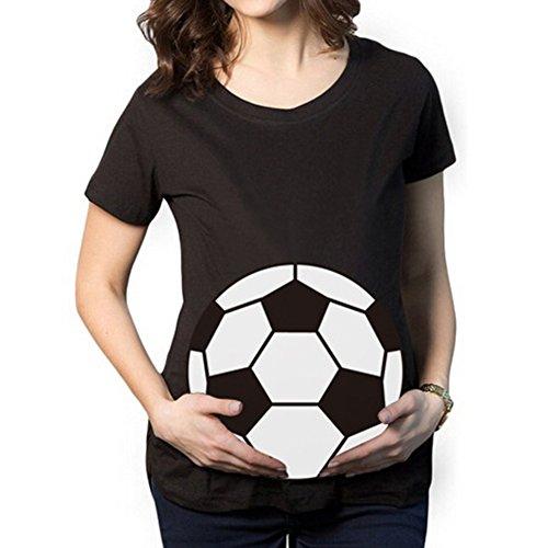Umstandsshirt Fussball Schwangerschaftsshirt Lustig Kurzarm mit Lustig