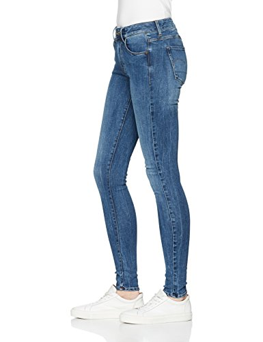 G-STAR RAW Damen Jeans 3301 D-mid Super Skinny Blau (Medium Aged 071)