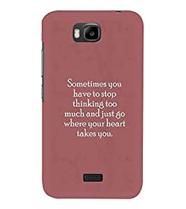 PrintVisa Designer Back Case Cover for Huawei Honor Bee :: Huawei Honor Bee Y5c (Quote Love Heart Messages Crazy Express Sorry )