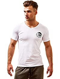 Diesel Homme Michael Industry T-Shirt col V
