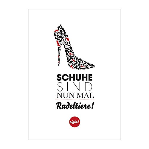 Formart Postkarte Schuhe sind wie Rudeltiere
