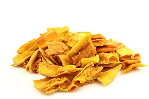 Dorimed - Bio getrocknete Mangos, Mangostreifen, getrocknete Früchte ohne Zucker, Gentechnikfrei, ohne Konservierungsmittel, 1 kg