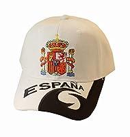 Casquette Blanche d'Espagne - Produit Officielle - Taille Adulte réglable