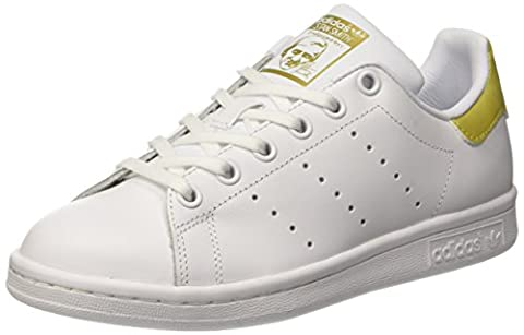adidas Unisex-Kinder Stan Smith Sneaker, Weiß (Footwear White/Footwear White/Gold Metallic), 37 1/3 EU