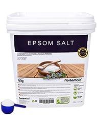 NortemBio Sel d'Epsom 6 Kg, Source concentrée de Magnésium, Sel 100% Naturel. Bain et Soins Personnels.