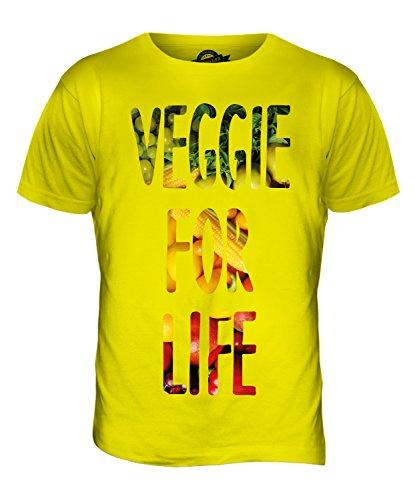 CandyMix Vegetarier Für Das Leben Herren T Shirt Zitronengelb