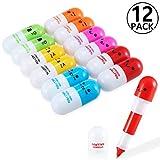 Yosemy [12 PCS] Creative Stationery Mini penne retrattili a forma di pillole
