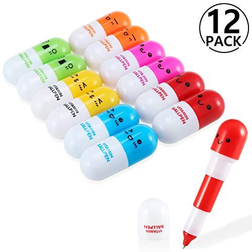 Yosemy [12 PCS] Mini Vitamine Pilule stylos à bille...