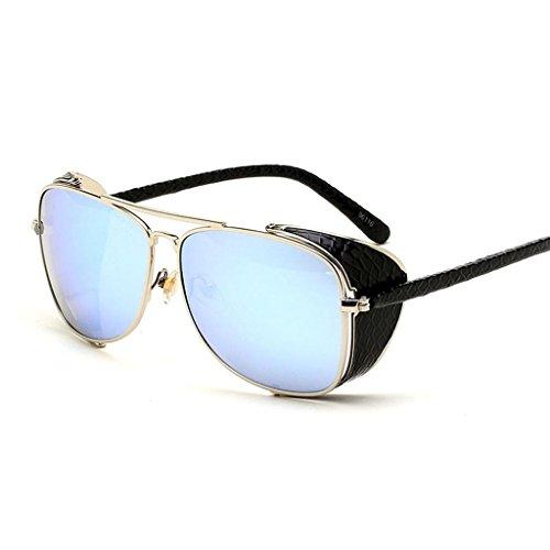Metall Rahmen Sonnenbrille Retro Kröte Sonnenbrille Brille UV400 Schutz c2 (Erwachsene Kröte Kit)