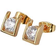 d5ab0c6e588d LEORX Par de Chicas Zircon Piezas Decoradas Gotas Pendientes Zarcillos (de  Oro)