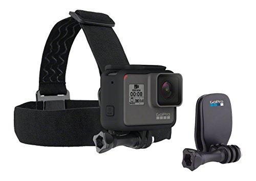 GoPro Headstrap + QuickClip - Pack de accesorios para cámara GoPro Hero, color negro