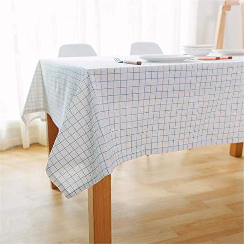 ecke weiß Karierten Tischdecken rechteckigen Küchentisch Wohnzimmer Couchtisch Hauptdekorationen A01 140x180cm ()