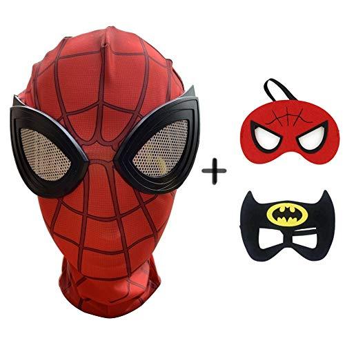 Wahre Batman Kostüm Der - BGHKFF Spiderman Masken Mottoparty Helm Halloween Maske Cosplay Hüte Kopfbedeckung Karneval Schminke Zubehör(3 Pcs),Adult1