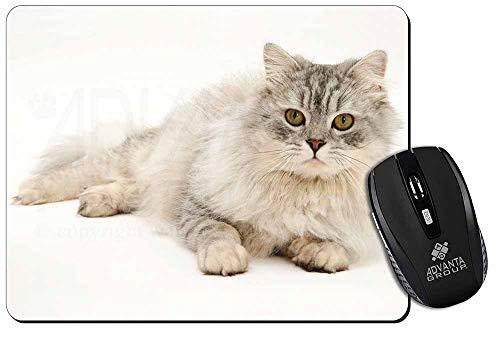 Silber Chinchilla Perserkatze Computer-Maus -Matte / pad Weihnachtsgeschenk -