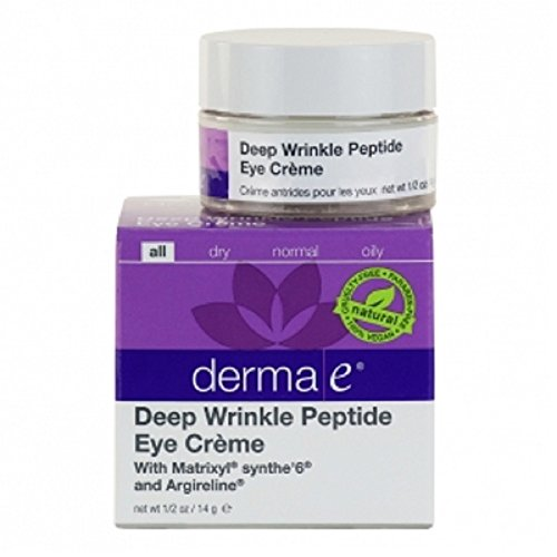 derma e Deep Wrinkle Peptide Eye Creme Moisturizer 0.5 oz
