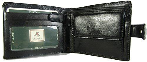 New Visconti Monza Rom glasiert Italienisches Leder Herren Geldbörse Geld Tasche Stil Rom MZ5 braun schwarz