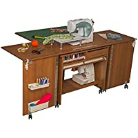 Comfort 7+   Muebles para máquinas de coser y overlock   (Walnut Aida Tobacco)