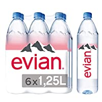 Evian Natural Mineral Water PET Promo Pack - 1.25 liters (Pack of 6)