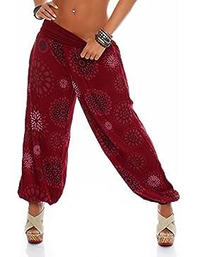 ZARMEXX Señoras de los bloomers de los pantalones pantalones harén pantalones de verano por toda impresión One...