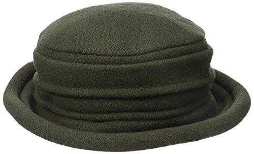 scala-womens-100-wool-cloche-bucket-hat-cap-olive-green