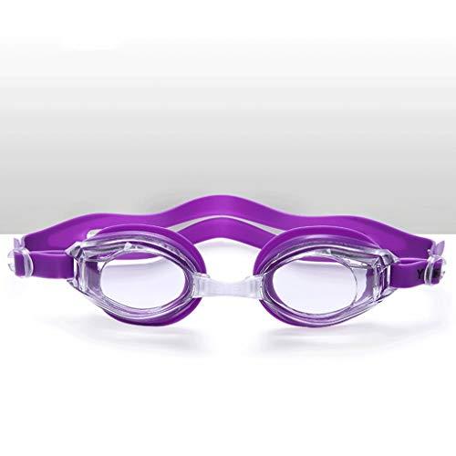 ZTMN Schwimmbrille HD Anti-Fog Schwimmen Männer und Frauen Brille Erwachsene Schwimmbrille (Farbe: lila) (Dunkle Schwimmen-schutzbrillen)
