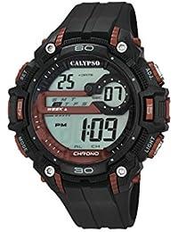 608fbf545096 Calypso – Reloj Digital Unisex con LCD Pantalla Digital Dial y Correa de  plástico en Color
