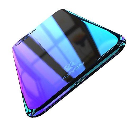 FLOVEME Apple iPhone 7 / iPhone 8 Hülle [Wireless Charger & drahtlose Aufladung], Bunte Transparent Handyhülle Ultra dünne Schutzhülle Phone case für Apple iPhone 7 / iPhone 8 Cover case - Lila