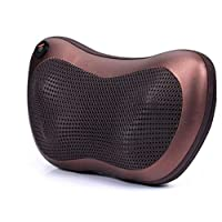 Vibrating kneading back and neck massager pillow infrared shiatsu.