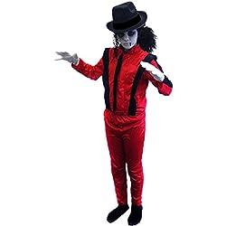 Disfraz de Michael Jackson zombie para niño de ILoveFancyDress, tallas de 4 a 14 años, color rojo y negro