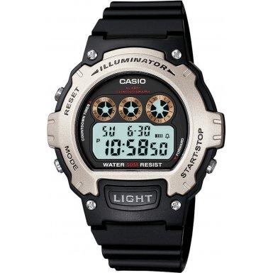 Casio W-214H-1AVEF - Reloj digital de cuarzo unisex con correa de resina, color negro
