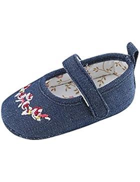 Babyschuhe Longra Baby Mädchen Bogen-Knoten Canvas Schuhe Sneaker rutschfest weiche Sohle lauflernschuhe krabbelschuhe...