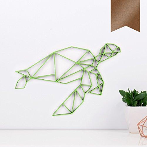 KLEINLAUT 3D-Origamis aus Holz - Wähle Ein Motiv & Farbe - Schildkröte - 30 x 25,4 cm (L) - Kupfer