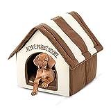Hianiquaime® Hundehaus Faltbarer Hundehöhle Entfernbares Katzenhöhle Waschbares Hundebett Rutschfester Katzenbett Schlafplatz Hundekorb für Kleine Hunde und Katzen 39.5x38x45 cm