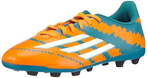 adidas Messi 10.4 FxG Jungen Fußballschuhe Mehrfarbig (Power Teal F14/FTWR White/Solar Orange)