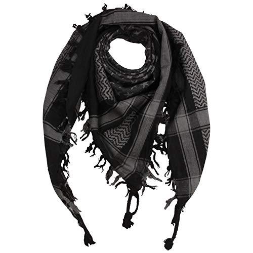 Superfreak Palituch - Sterne schwarz - grau - 100x100 cm - Pali Palästinenser Arafat Tuch - 100{77a41921e1a742da7aa88de33fc5fe6e02f90097deecf993c956ec8c5e61c5f9} Baumwolle