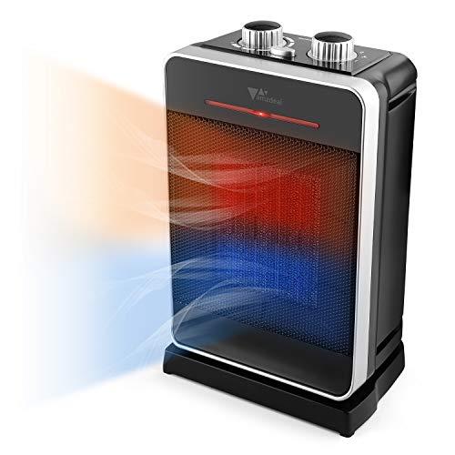 Amzdeal Calefactor Cerámico PTC Oscilación 70°Calefactor