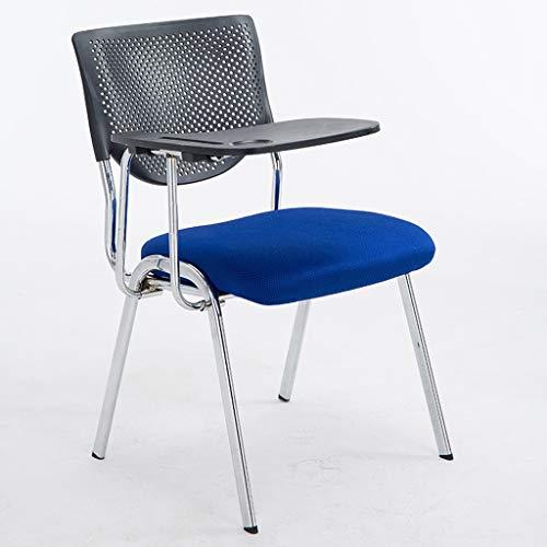 DUOER-Klappstühle Multifunktionsstuhl Kunststoff Büromöbel Schwarz Rahmen Konferenzstühle - mit Arm & Kunststoff Tablet WordPad (Color : D) (Arm Stuhlhussen)