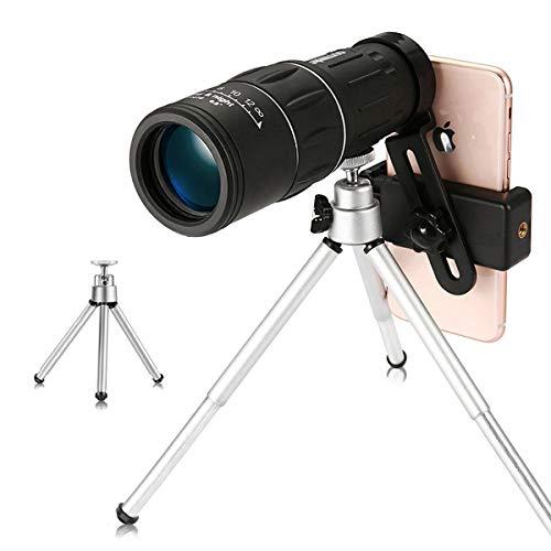 Monokular Scope 16 x 52, Urbetter HD Wasserdichte und Stoßsichere Nachtsicht Monokular mit Portables optisches Prismenteleskop, Dual Focus Optics Zoom, für Vogelbeobachtung, Reisen, Outdoor, Klettern