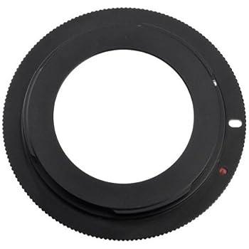 Pixtic - Bague d'adaptation pour les objectifs M42x1 (42mm à vis) vers les boitiers Canon EOS à monture EF/EF-S, mise au point à l'infini conservé