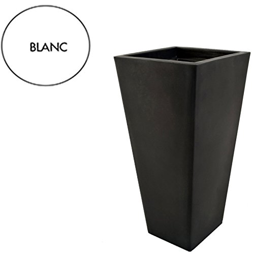 Pot carre design 405 x 405 mm Blanc