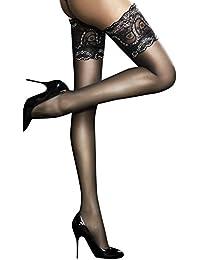 Sandrine - Bas nylon fin 20 den Autofixants - Fiore Femme