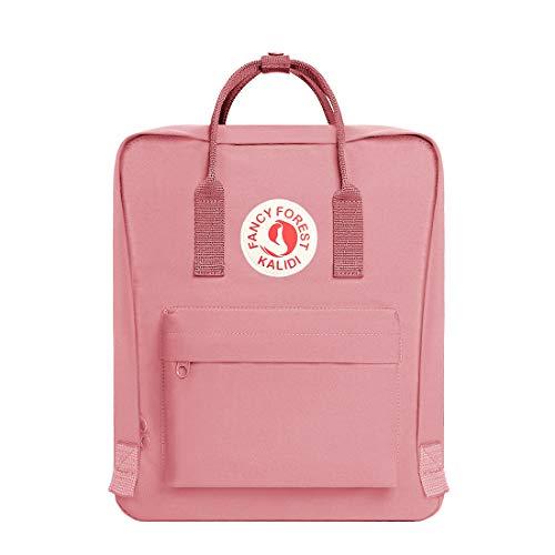 Fancy Forest Rucksack/Daypack Rucksack Mädchen Jungen & Kinder Damen Herren Schulrucksack mit laptopfach für 15 Zoll Notebook,Rosa (Rosa Rucksack Für Mädchen)