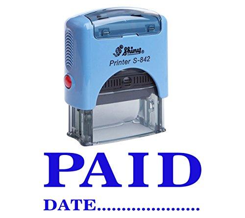 Pagato con data auto inchiostrazione timbro stationary office personalizzato lucido stamp